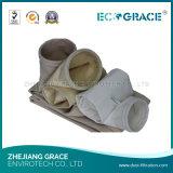 Sachet filtre de collecteur de poussière de feutre de pointeau de polyester
