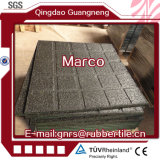 Gummifußboden-Fliese-Qualitäts-Gummistraßenbetoniermaschine-Gleitschutzgummibodenbelag