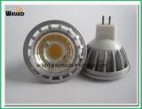 светильник фары УДАРА MR16 сплава СИД alluminum наивысшей мощности 5W 12V GU5.3 низкопробный для крытой пользы с CE & ROHS