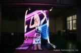 Im Freienbekanntmachenvideo Wand LED flexible LED-Bildschirmanzeige