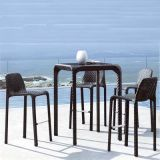 Tabella pranzante e presidenza della mobilia di stile della Grecia del rattan esterno del PE