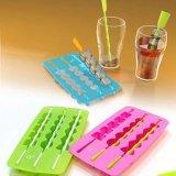 Bandeja relativa à promoção plástica do cubo do bolo de gelo do silicone da alta qualidade (104)