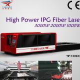 Machine de découpage de laser de fibre de haute performance pour le tube en métal