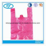 Saco personalizado do t-shirt da cópia do HDPE de T plástico Degradable