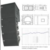 Cvr PRO Line Array Sub-Bass System W-82b/W-15bp