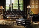 Sofà di cuoio di Chesterfield della retro dell'hotel mobilia della casa