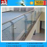 4mm19mm maakte China Glas voor de Balustrade van het Glas van het Balkon, de Omheining van het Glas, de Leveranciers van het Traliewerk van het Glas van de Trede aan