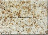 A superfície de pedra artificial de quartzo da placa para a cozinha Counterop/do material de edifício dirige a decoração