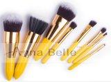 Insieme di spazzola cosmetico professionale di trucco di PCS di colore giallo luminoso 8 per la giovane signora