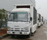 Camion di pubblicità mobile di Isuzu 4*2 5 tonnellate di LED di veicolo della visualizzazione