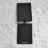 Étiquette du fabriquant de papier noire pour le vêtement d'Itally