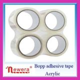 Cinta adhesiva de poco ruido clara estupenda del embalaje de BOPP