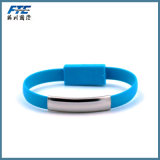 Cabo do USB do bracelete por atacado do USB do silicone micro