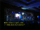 二重デッカーの結婚式のための耐火性のビロードLEDの星のカーテン、クラブ、段階は飾った