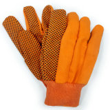 Guanto punteggiato del lavoro del giardino dei guanti della tela di canapa dei guanti del cotone