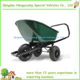 Wheelbarrow de serviço público do carro de gramado do vagão do jardim com 3 rodas