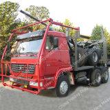 高品質のサラソウジュのトラックのSinotrukの木およびログの輸送