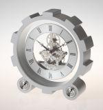 Orologio dello scrittorio del volante del metallo