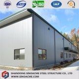 Atelier préfabriqué de structure métallique avec le deuxième étage