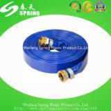 Положенный PVC плоский шланг отработанной вода для полива