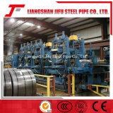 まっすぐな継ぎ目によって溶接される管の生産ライン