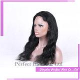 Perucas onduladas brasileiras da parte dianteira do laço de Remy do cabelo humano do Virgin