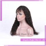 Peluca llena del cordón natural larga del estilo de Brown pelucas de cabello humano