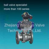 Extranjero neumático 1000 de la vávula de bola del actuador neumático de la vávula de bola del acero inoxidable CF8m