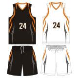 Os homens feitos sob encomenda Sublimated o uniforme reversível do basquetebol com tela de engranzamento