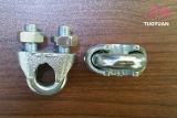 Braçadeira de corda maleável DIN741 do fio de Galvanzied