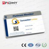 ユニバーサル(デュアルインターフェイス)白い光沢PVCカード