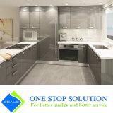 Alto armadio da cucina grigio della mobilia dell'armadietto di finitura della lacca di lucentezza (ZY 1195)