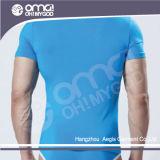 T-shirt de bonne qualité de coton de Pima de la mode des hommes (553)