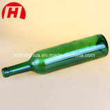 Botellas verdes de cristal del brandy de los vidrios de Champán de la botella