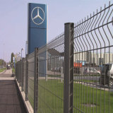 Frontière de sécurité enduite de treillis métallique de Galvanized/PVC avec la courbure