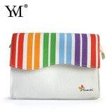 Kosmetische Zak van het Canvas van de Manier van de Kleur van de Regenboog van de bevordering de Hete Verkopende