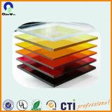 투명도 빨간 반투명 형광성 높은 광택 PMMA 장을 착색하십시오