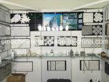 Het opgepoetste Witte Mozaïek van Carrara mengde de Grijze Marmeren Waterjet Tegel van de Muur van de Vloer