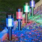 Lumière changeante de couleur solaire en acier de jardin de Staineless (RS119A)