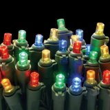 corda artificial da luz da árvore de Natal do diodo emissor de luz de 5mm com a multi decoração das cores (L200.021.00)
