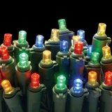 5mm LEDのマルチカラー装飾(L200.021.00)が付いている人工的なクリスマスツリーライトストリング
