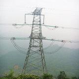 torre linear do aço da transmissão de potência do circuito 220kv dobro