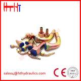 Venta caliente derecho y guarniciones de manguito hidráulicas estampadas del codo 10311