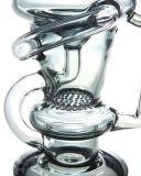 Tubo di acqua di vetro di fumo del narghilé del riciclatore di Klein del favo (ES-GB-583)
