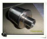 V elemento filtrante del alambre/boquilla del tamiz (acoplamiento de alambre de Xinlu)