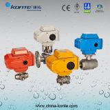 KT válvula de bola de acero inoxidable sanitario eléctrico