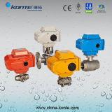 Válvula de esfera sanitária elétrica KT do aço inoxidável