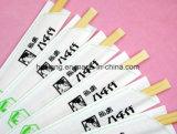 O projeto do logotipo do cliente Sleeves os Chopsticks chineses de bambu de Dispasable