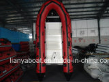 Liya 10ft Flat Bottom Aluminum Fishing Boat Inflatable Rubber Raft