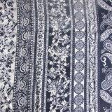 Mulheres da impressão que vestem a tela viscosa da fábrica de matéria têxtil